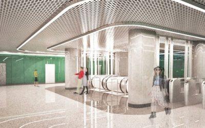 Продолжается монтаж эскалаторов Schindler на станции «Озерная площадь» («Очаково»)