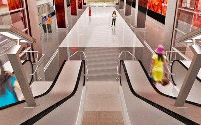 Монтаж эскалаторов ThyssenKrupp на станции «Мичуринский проспект» Московского метрополитена