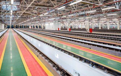 В активную фазу вступили шефмонтажные и пуско-наладочные работы на оборудование в новом электродепо Московского метрополитена «Митино»